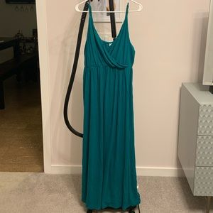 Turquoise Green, Maxi Dress, XL